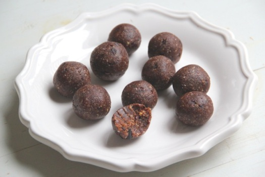 cacao chip brownie balls