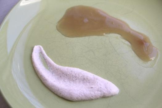 cashew cream and caramel sauce