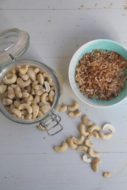 cashews and coconut